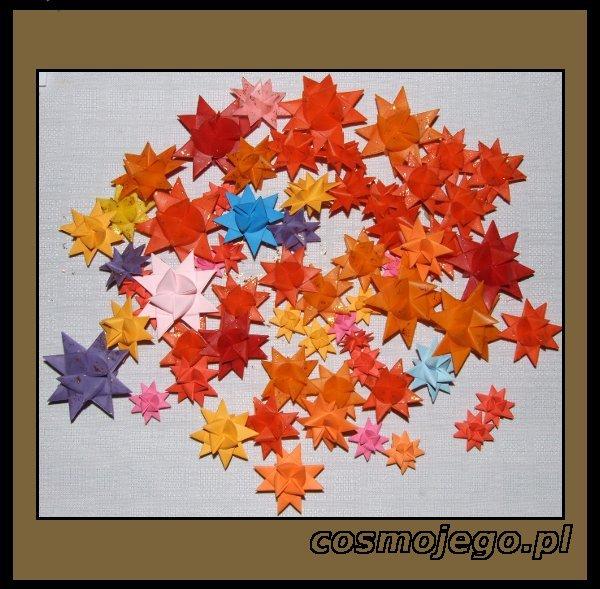 Gwiazdki origami - mogą nie tylko ozdabiać choinkę