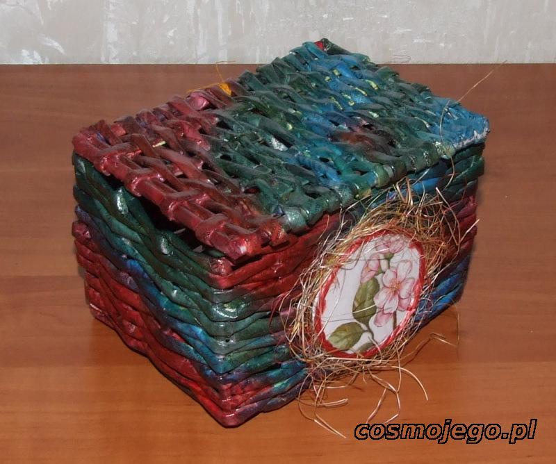 Wiklina papierowa - szkatułka