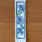 Zakładka do książki - niebieskie kwiaty