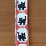 Zakładka do książki - cztery czarne koty