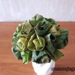 Bukiet z zielonych liści