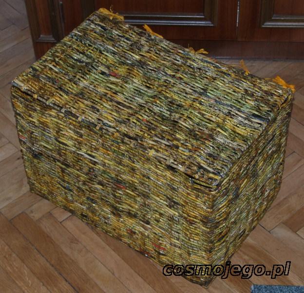 Skrzynia z papierowej wikliny