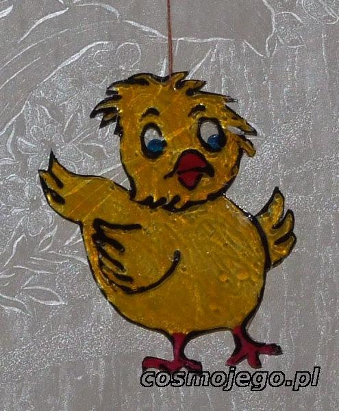 Zawieszka  na wielkanocne gałązki - kurczaczek