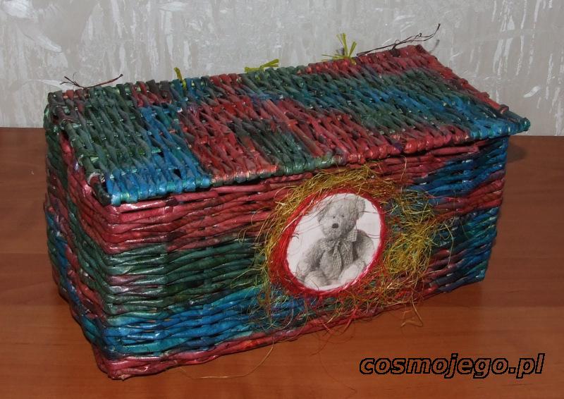 Koszyk z wikliny papierowej o wymiarach - szer.17 cm, dł.31
