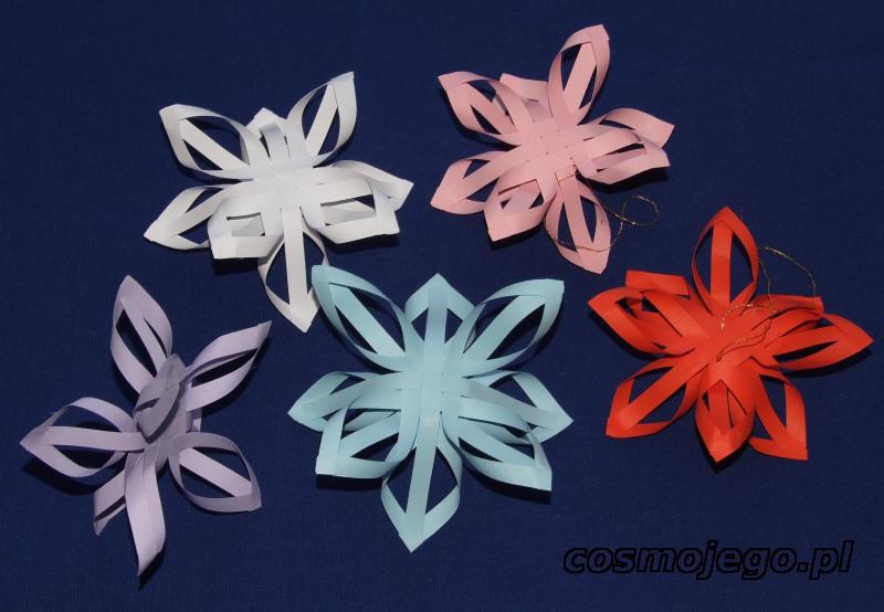 Gwiazdki z pasków papieru