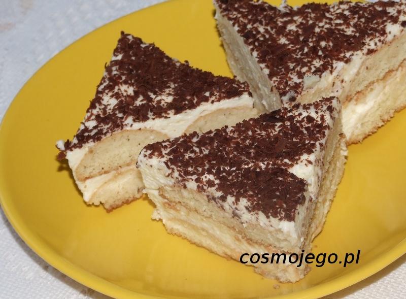 Szybkie ciasto bez pieczenia z serkiem mascarpone